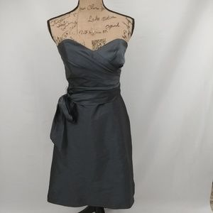 EUC-Alfred Sung Strapless Cocktail Dress